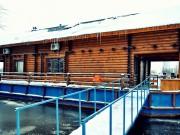 Русская баня в доме на воде